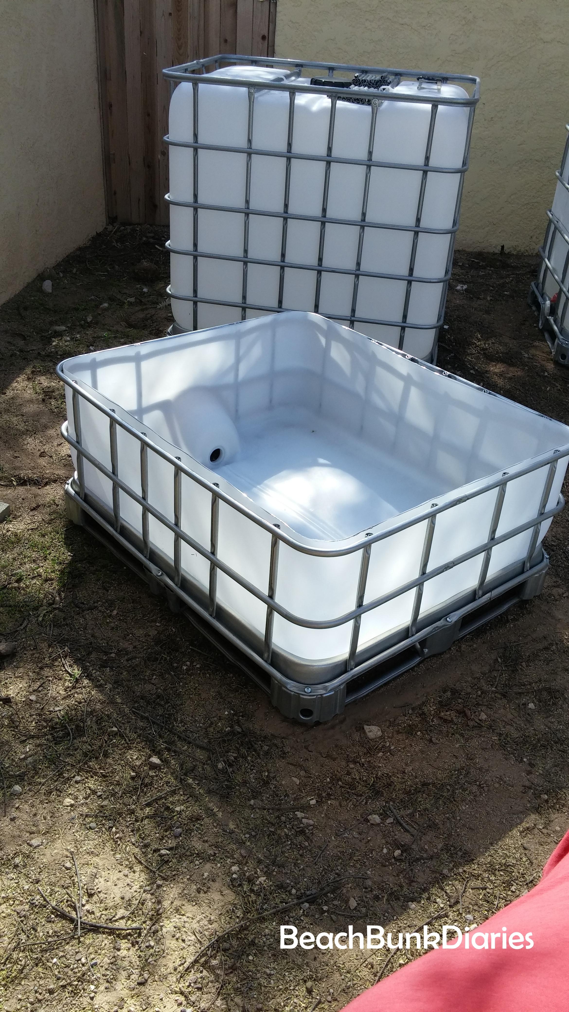 How to cut ibc aquaponics grow beds aquaponics resource for Aquaponics grow bed